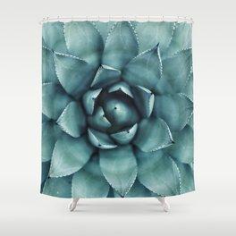 Aloe Green Agave Shower Curtain