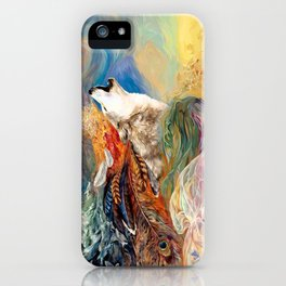 The spirit Wolf Abstract iPhone Case
