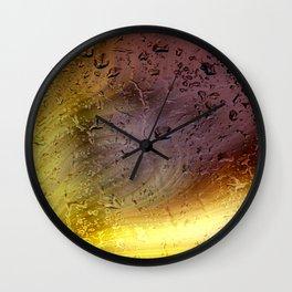 Coloribus infectum tergo glas Wall Clock
