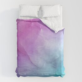 Abstract Precious Stone - Pink and Teal Comforters
