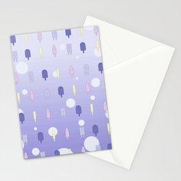 Kawaii Popsicles Purple Stationery Cards