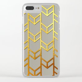 Cubes Of Arrows Clear iPhone Case