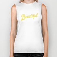 pocketfuel Biker Tanks featuring BEAUTIFUL IN TIME by Pocket Fuel
