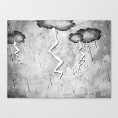 There's a storm a brewin Canvas Print