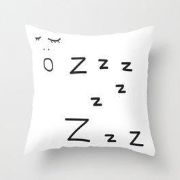 sleeping bebe Throw Pillow