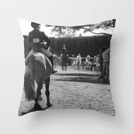 Into The Ring Throw Pillow