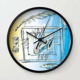 Screaming Wall Clock