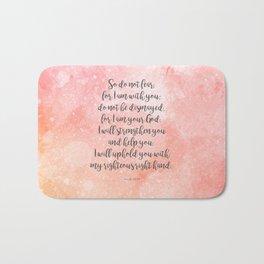 Isaiah 41:10, Uplifting Bible Verse Bath Mat