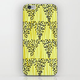 Dots + Stripes - Gold iPhone Skin