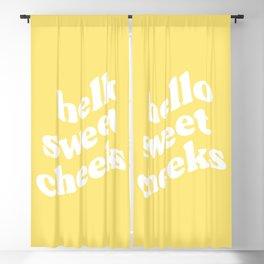 Hello Sweet Cheeks Blackout Curtain