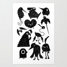 Birds Bird Burd Art Print