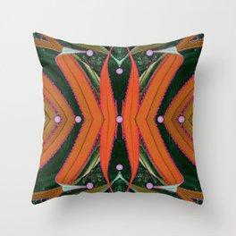 Ribbons of Screw Pine Throw Pillow