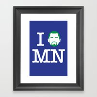 I (Kevin) Love MN! Framed Art Print