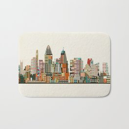 Cincinnati Ohio skyline Bath Mat