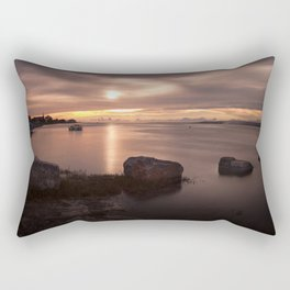 Loughor estuary sunset Rectangular Pillow