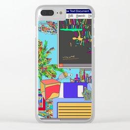 Vaporwave Clear iPhone Case