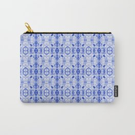 Sapphire Blue Print Carry-All Pouch