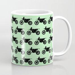 Dirt Bikes // Light Green Coffee Mug