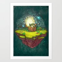 zelda Art Prints featuring Zelda by Ronan Lynam