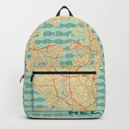Helsinki Map Retro Backpack