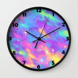 Pastel Galaxy Wall Clock
