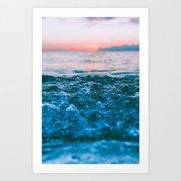 Pink ocean II Art Print