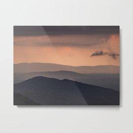 Blue Ridge Parkway Sunset - Shenandoah National Park Metal Print