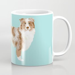 Australian Shepherd red merle funny dog fart Coffee Mug