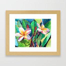 Plumeria Garden Framed Art Print