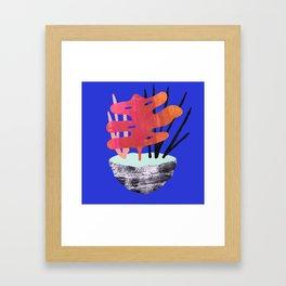 Ikebana Blue Framed Art Print