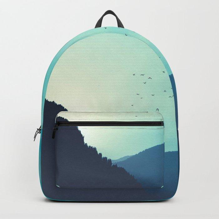 Sundancer - Alpine valley at sunrise Backpack