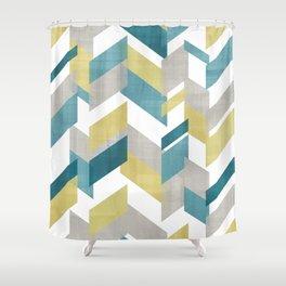 Bright geometrical pattern Shower Curtain