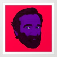 robin williams Art Prints featuring Robin Williams by Cédric Day-Myer