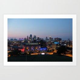 Kansas City Night Art Print