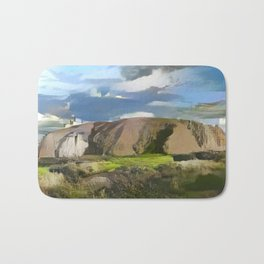 Ayers Rock in the Colors of Dover Bath Mat
