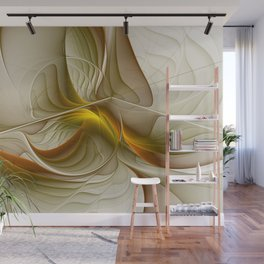 Abstract With Colors Of Precious Metals, Fractal Art Wall Mural