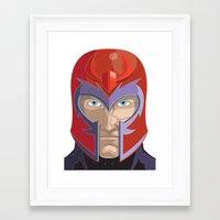 magneto Framed Art Prints featuring Magneto by Jconner