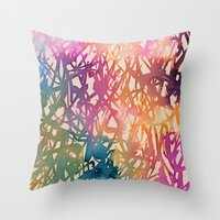 sparkle Throw Pillows featuring Sparkle by zeze