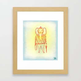 Elephant Dad Framed Art Print