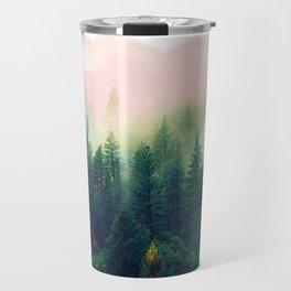 Watercolor mountain landscape Travel Mug