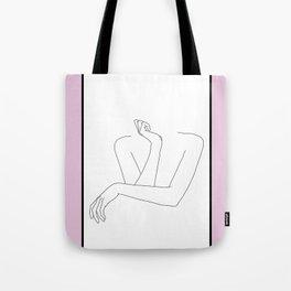 Crossed arms illustration - Anna Pink Border Tote Bag