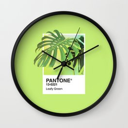 PANTONE SERIES – LEAFY GREEN Wall Clock