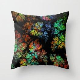 Leaves - fractal art Throw Pillow