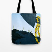 nightcrawler Tote Bags featuring Wagner's Tail by modHero