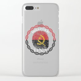 Angola Its In My DNA Clear iPhone Case