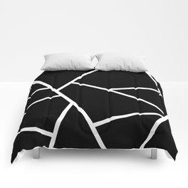 Black and White Fragments - Geometric Design II Comforters