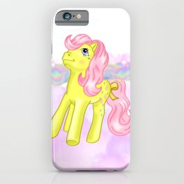 g1 my little pony Galaxy and Flutter ponies iPhone Case
