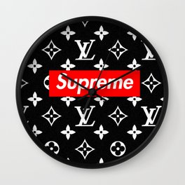 Supreme Lv Black Wall Clock