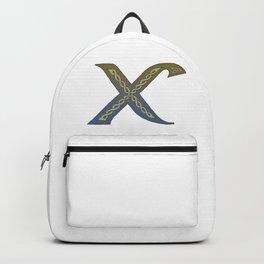 Celtic Knotwork Alphabet - Letter X Backpack