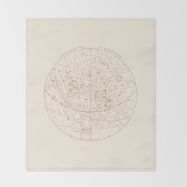 Visible Heavens - Gold Throw Blanket